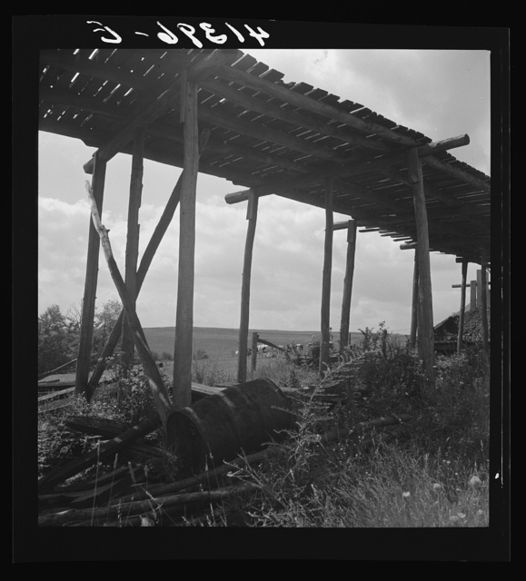 Landscape in the coal and farm area near Du Bois, Pennsylvania