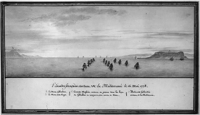 L'escadre françoise sortant de la Méditerranée le 16 Mai 1778