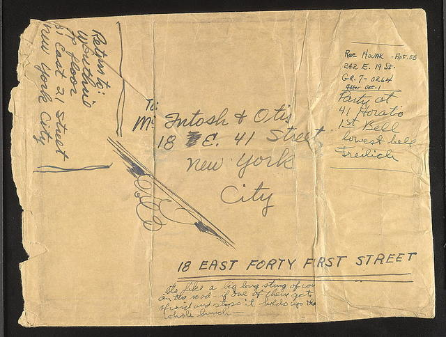 Letter from Woody Guthrie, ca. Fall 1940