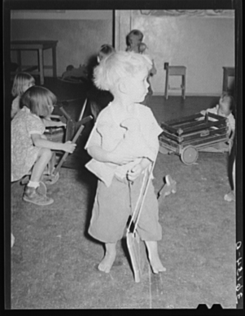 Little Boy At The Wpa Work Projects Administration Nursery School Agua Fria