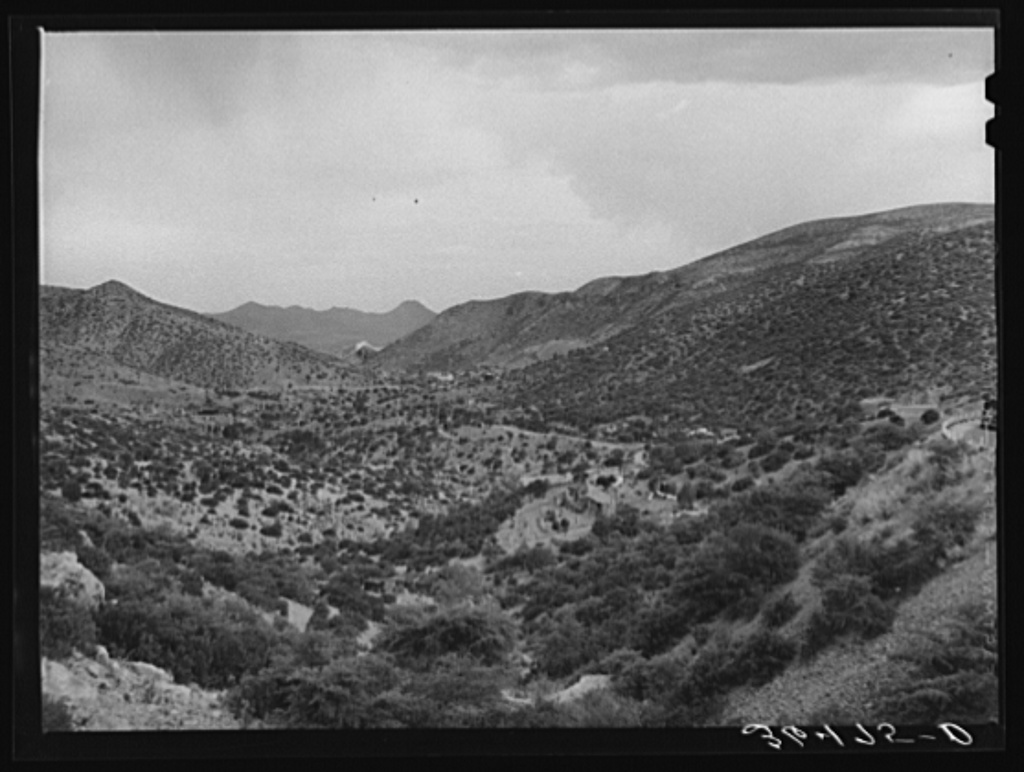 Looking down the valley to Bisbee, Arizona