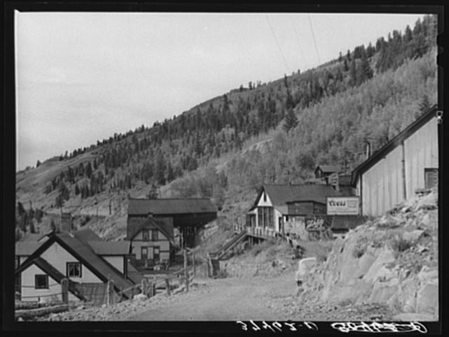 Looking towards the narrow gauge railway station at Ophir, Colorado