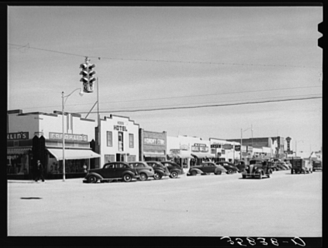 Main street in the oil boom town of Hobbs, New Mexico