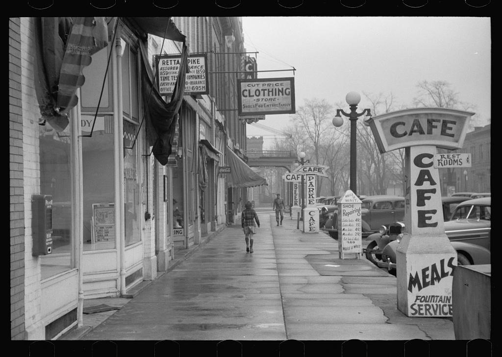 Main street, Rockville, Indiana