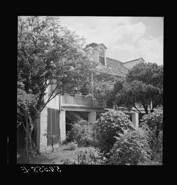 Melrose, Natchitoches Parish, Louisiana. Main house on the John Henry cotton plantation, which was built by mulatto Augustin Metoyier for his son Louis. It was originally called Yucca Plantation (from Spanish). See general caption