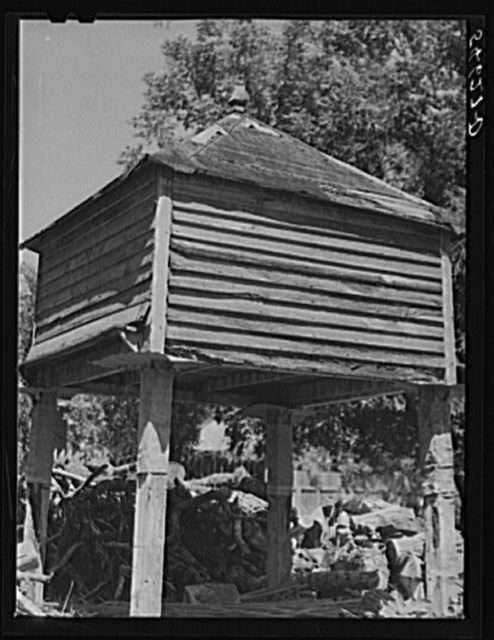 Melrose, Natchitoches, Parish, Louisiana. Pigeonnier on old John Henry cotton plantation. Built about 1824 (see general caption)