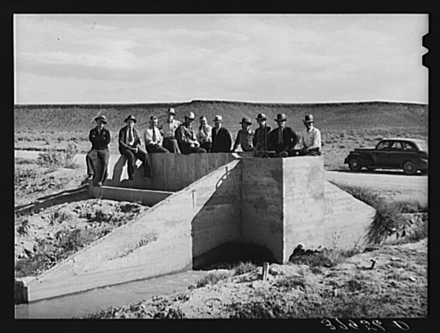 Members of cooperative irrigation project. Washington County, Utah
