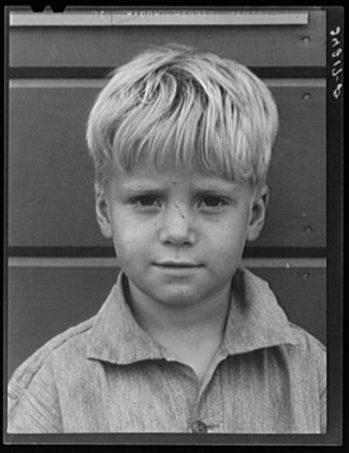 Migrant boy. Tulare migrant camp. Visalia, California