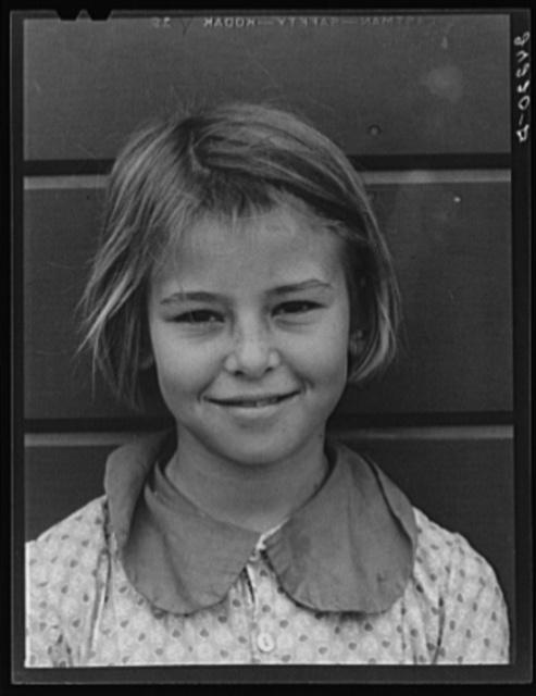 Migrant girl. Tulare migrant camp. Visalia, California
