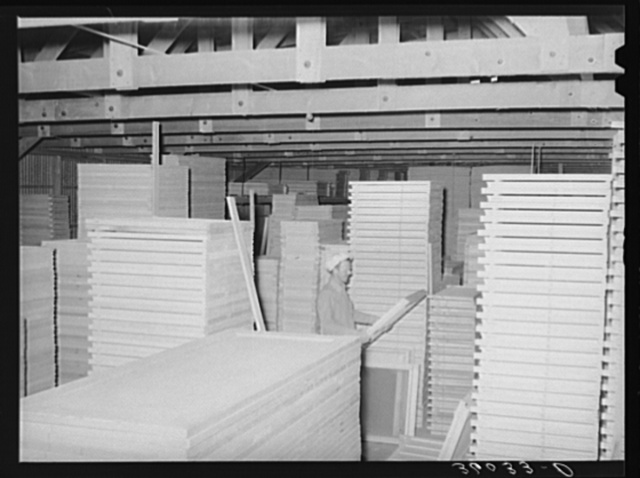 Mill work doors and windows at the warehouse of the United Producers and Consumers Cooperative. Phoenix, Arizona
