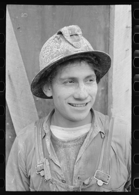 Miner at gold mine. Mogollon, New Mexico
