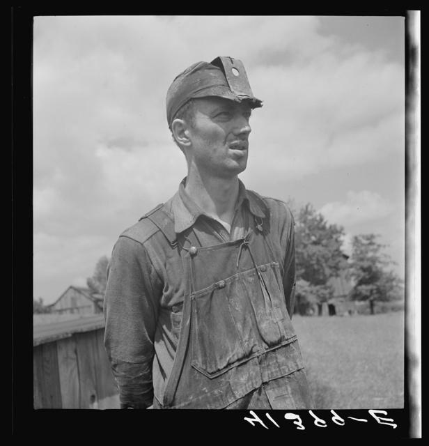 Miner working in a mine on a farm near Ellen Mills, Pennsylvania