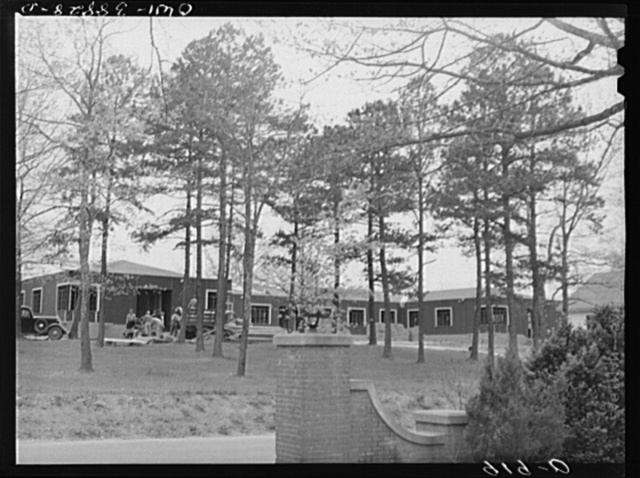 Miscellaneous lot of photographs by Barbara Wright. National Youth Administration (NYA), Works Progress Administration (WPA) and Civilian Conservation Corps (CCC). Habersham, Georgia. NYA training center