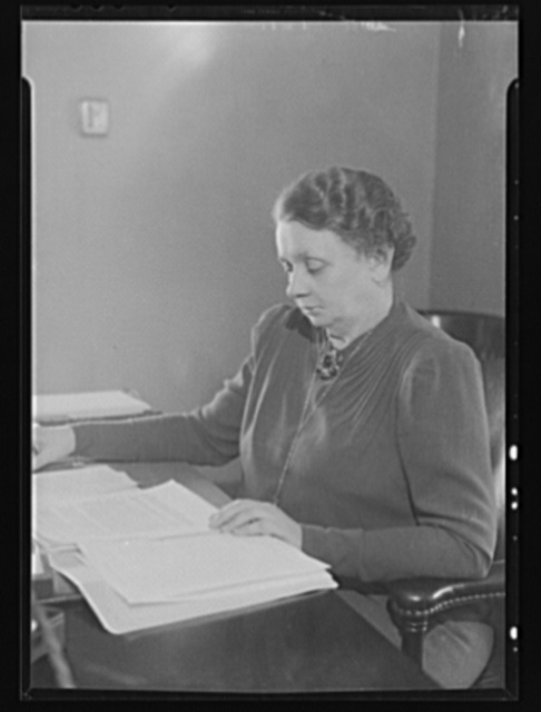 Miss Harriet Elliot, associate administrator of the Office of Price Administration (OPA), Office of Emergency Management (OEM), in charge of the Consumer Division