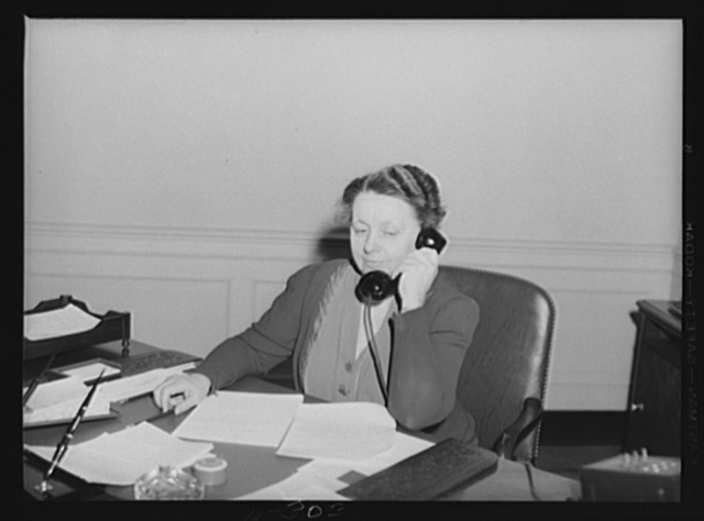 Miss Harriet Elliott, associate administrator of the Office of Price Administrationn (OPA), Office of Emergency Management (OEM), in charge of the Consumer Division