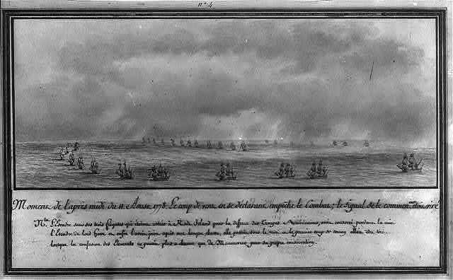 Moment de l'après midi du 11 Aoust 1778