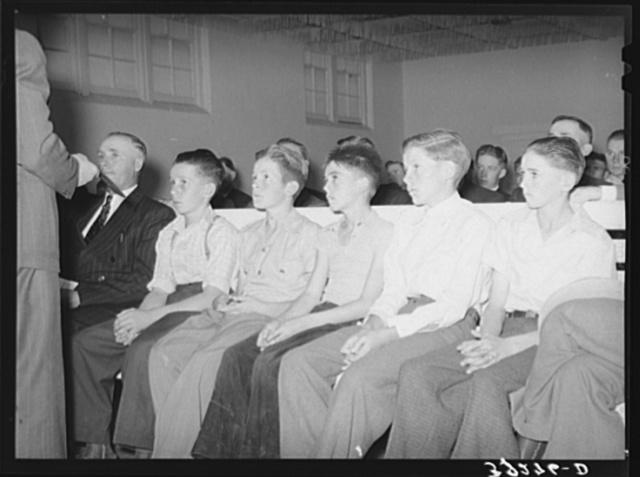 Mormon boys, young members of the priesthood. Mendon, Utah