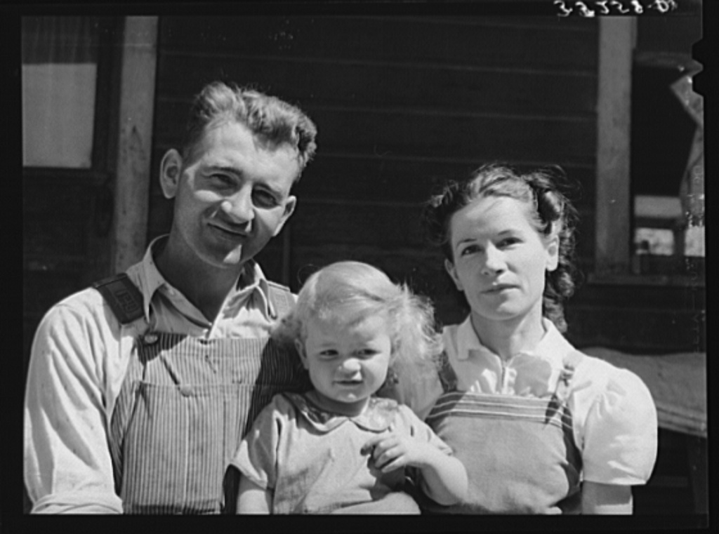 Mormon farmer and his family. Cache County, Utah