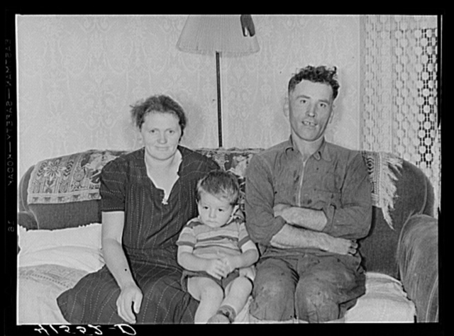 Mr. and Mrs. Louis Poleski and one of their children. Polish tobacco farmers. Enfield, Connecticut