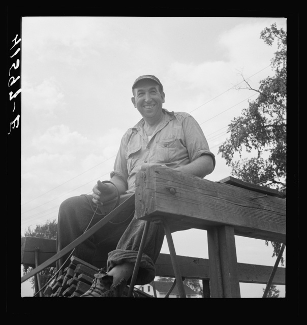 Mr. Fred Schoenleber. Has a thirty-six acre tobacco farm near Warehouse Point, Connecticut. A crew of thirty were being employed to harvest the crop