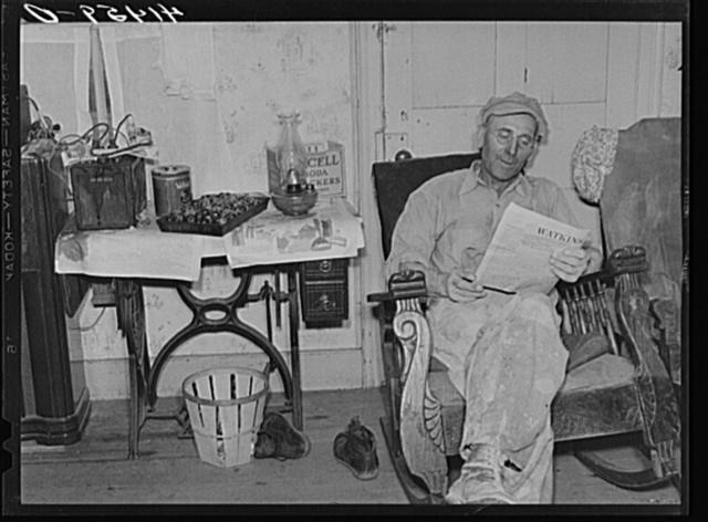 Mr. Joseph Soltisek, Polish farmer in the submarginal farm area of Sugar Hill, near Townsend, New York