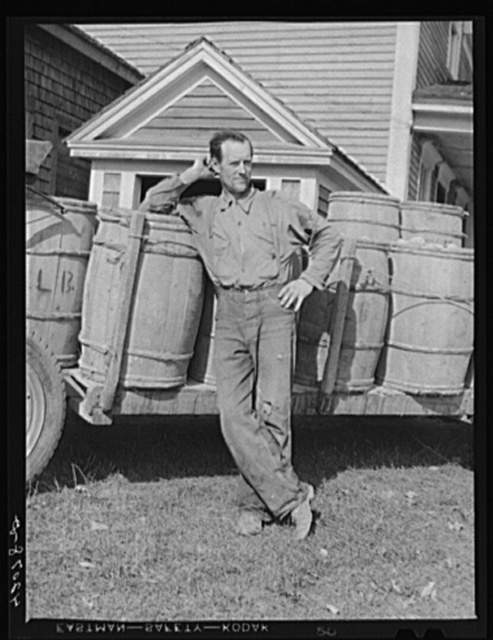 Mr. Lawrence J. Brown, potato farmer, FSA (Farm Security Administration) client of Eagle Lake, Maine. He has one hired helper and two small boys to work with him in the seed foundation unit