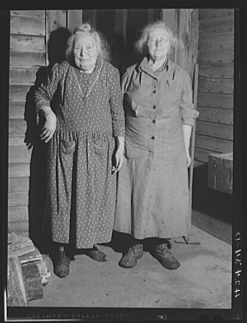 Mrs. Carey and Mrs. Pheobe Watrons [i.e., Miss Phebe Watrous,] seventy-four [sic] and eighty-three years old respectively. Old residents of Ledyard, Connecticut