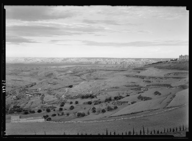 Mts. of Moab. Mts. of Moab fr[om] Hadassah Hospital on Scopus