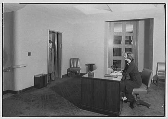 National Cash Register Co., 50 Rockefeller Plaza. Reception foyer