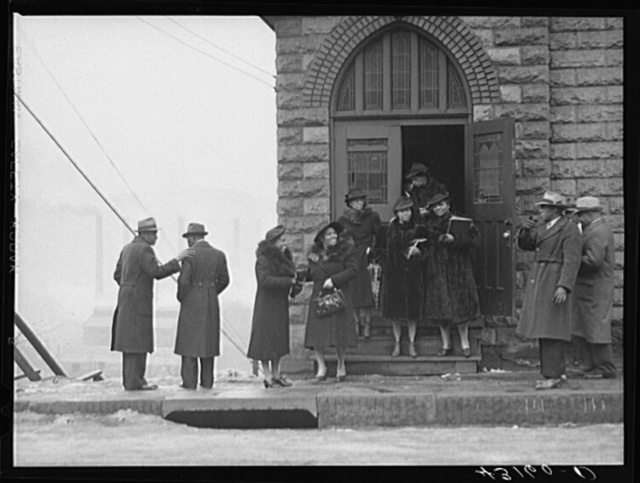 Negro church in mill district of Pittsburgh, Pennsylvania