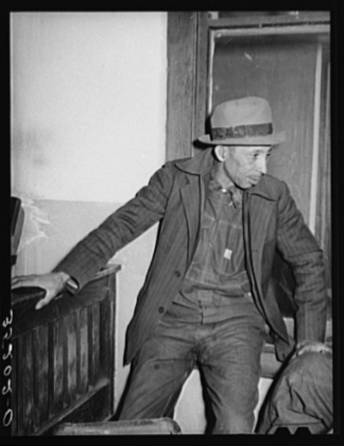 Negro tenant farmer at meeting of UCAPAWA (United Cannery, Agricultural, Packing, and Allied Workers of America). Bristow, Oklahoma