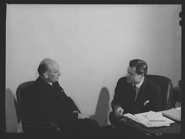 Nelson A. Rockefeller, Coordinator, and Joseph C. Rovensky, Chief of Finance and Industry, Office of Coordinator of Commercial and Cultural Relations between the American Republics