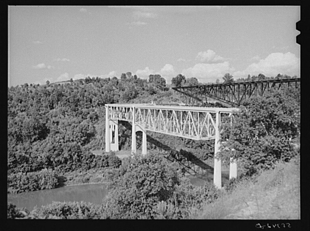 New bridge near Harrodsburg, Kentucky
