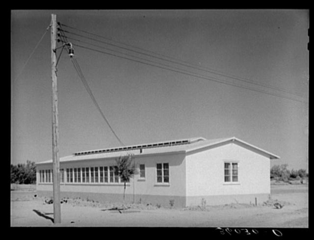 New building at the Agua Fria migratory labor camp. Arizona