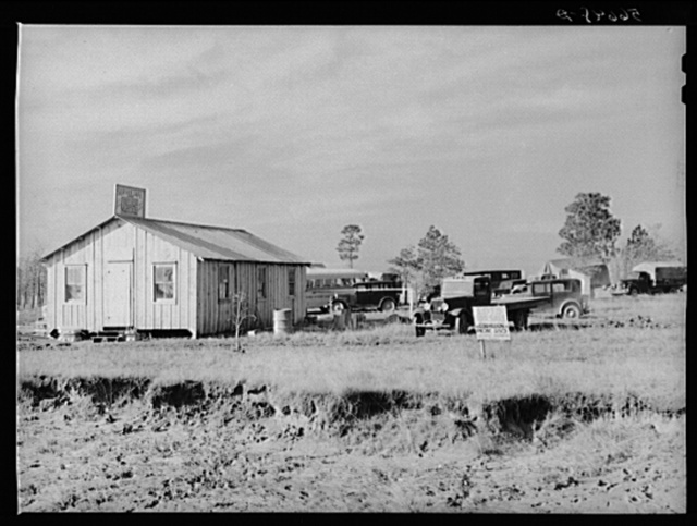 New cafe with trailers and tents in the rear near Forrest Hill. Lots are for sale everywhere and land near Camp Claiborne, which was formerly of very little value and difficult to sell is now in great demand at two hundred dollars per acre. Near Alexandria, Louisiana