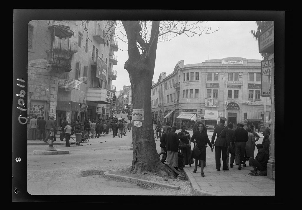Newer Jer. [i.e., Jerusalem] streets [Zion Circle]