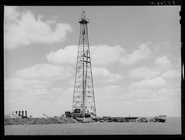 Oil well being drilled in San Patricio County, Texas