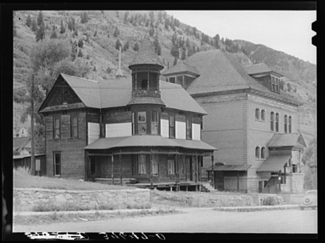 Old residence and former miners' union hall, now the post office. Telluride, Colorado