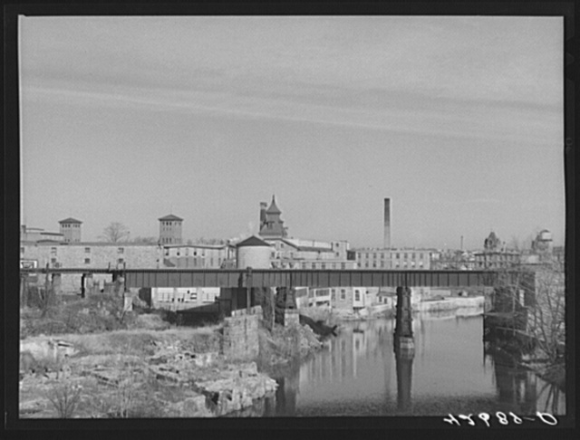 Old textile mills in Woonsocket, Rhode Island