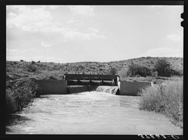 One of main irrigation canals. Bernadillo County, New Mexico