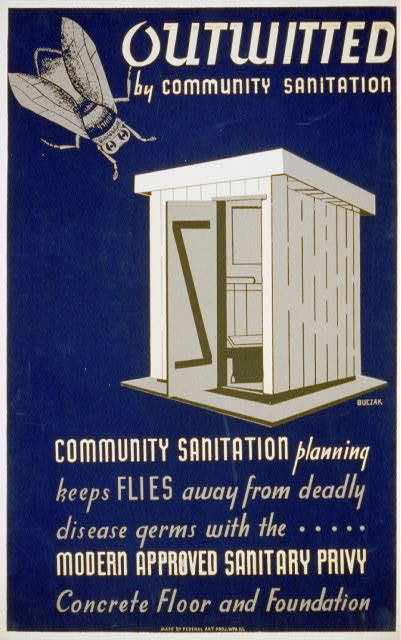 Outwitted by community sanitation Community sanitation planning keeps flies away from deadly disease germs... / / Buczak.