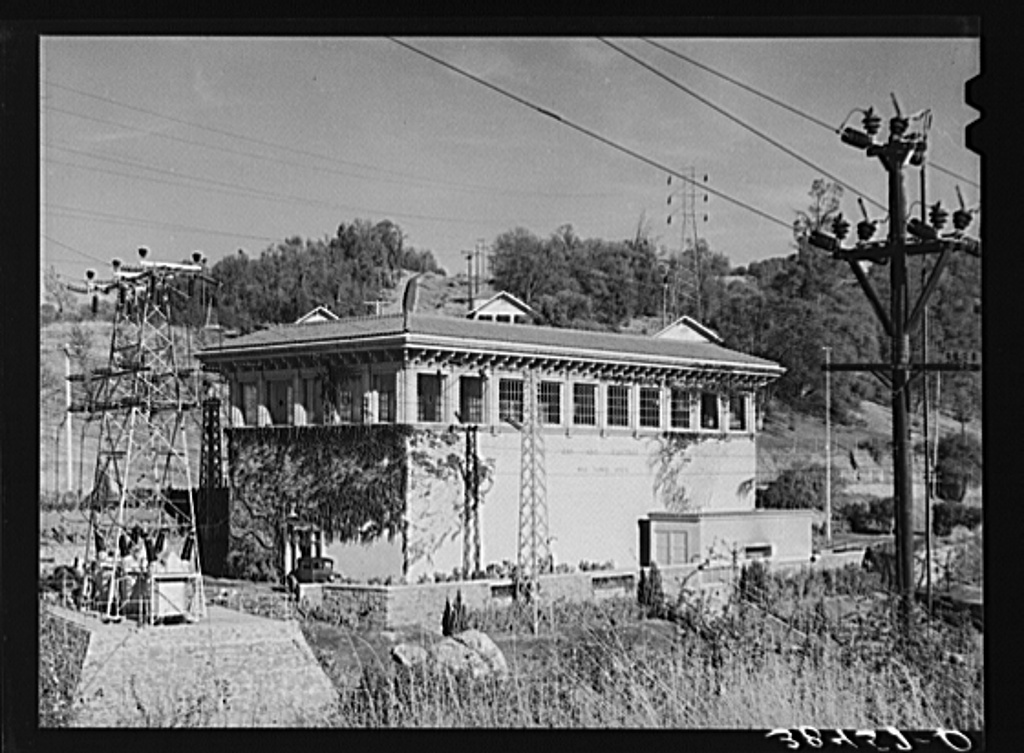 Pacific Gas and Electric powerhouse. Placer County, California