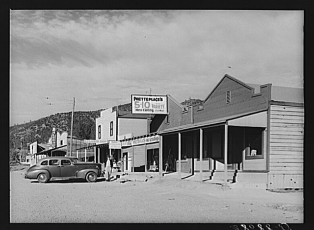 Part of the main street of Summit City, Shasta County, California. This is a boom town grown up in the vicinity of Shasta Dam now under construction