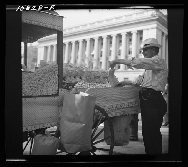 Peanut vendor outside the White House. Washington, D.C.