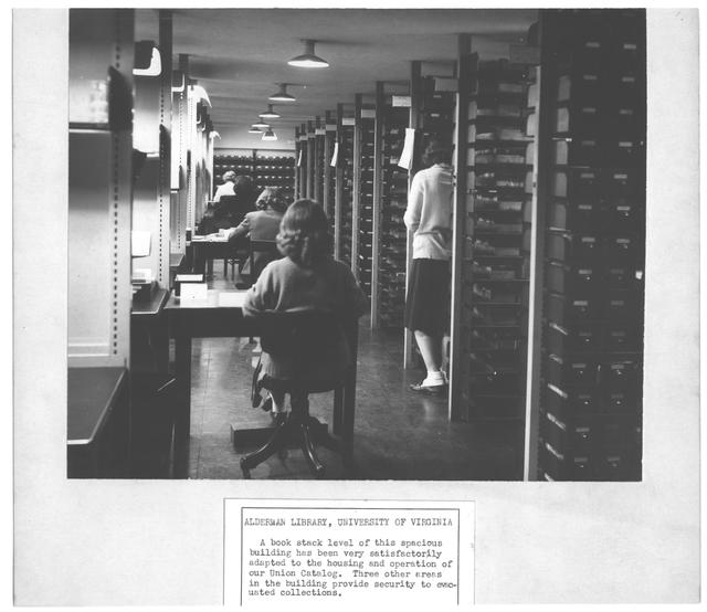 Photograph of the Alderman Library, University of Virginia, 194[?]