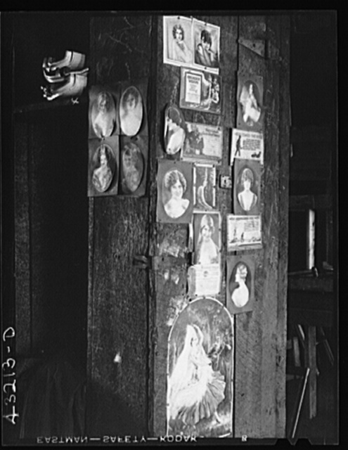 Pictures on a post in the old Olive Stove Works. The plant is now completely closed and in the hands of receivers