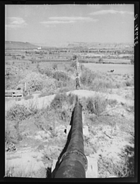 Pipeline for water facilities project on outskirts of Saint George, Utah. Washington County