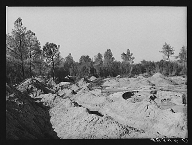 Placer mining section, gold. Placer County, California
