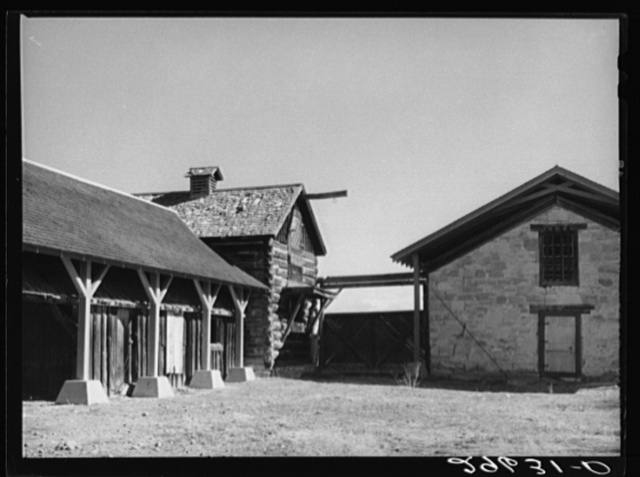 Pony Express stables at Fort Bridger, Wyoming