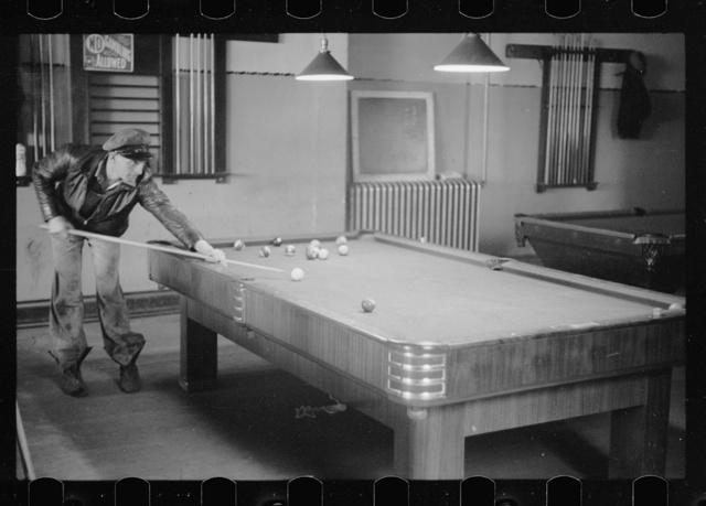 Poolroom, Scranton, Iowa